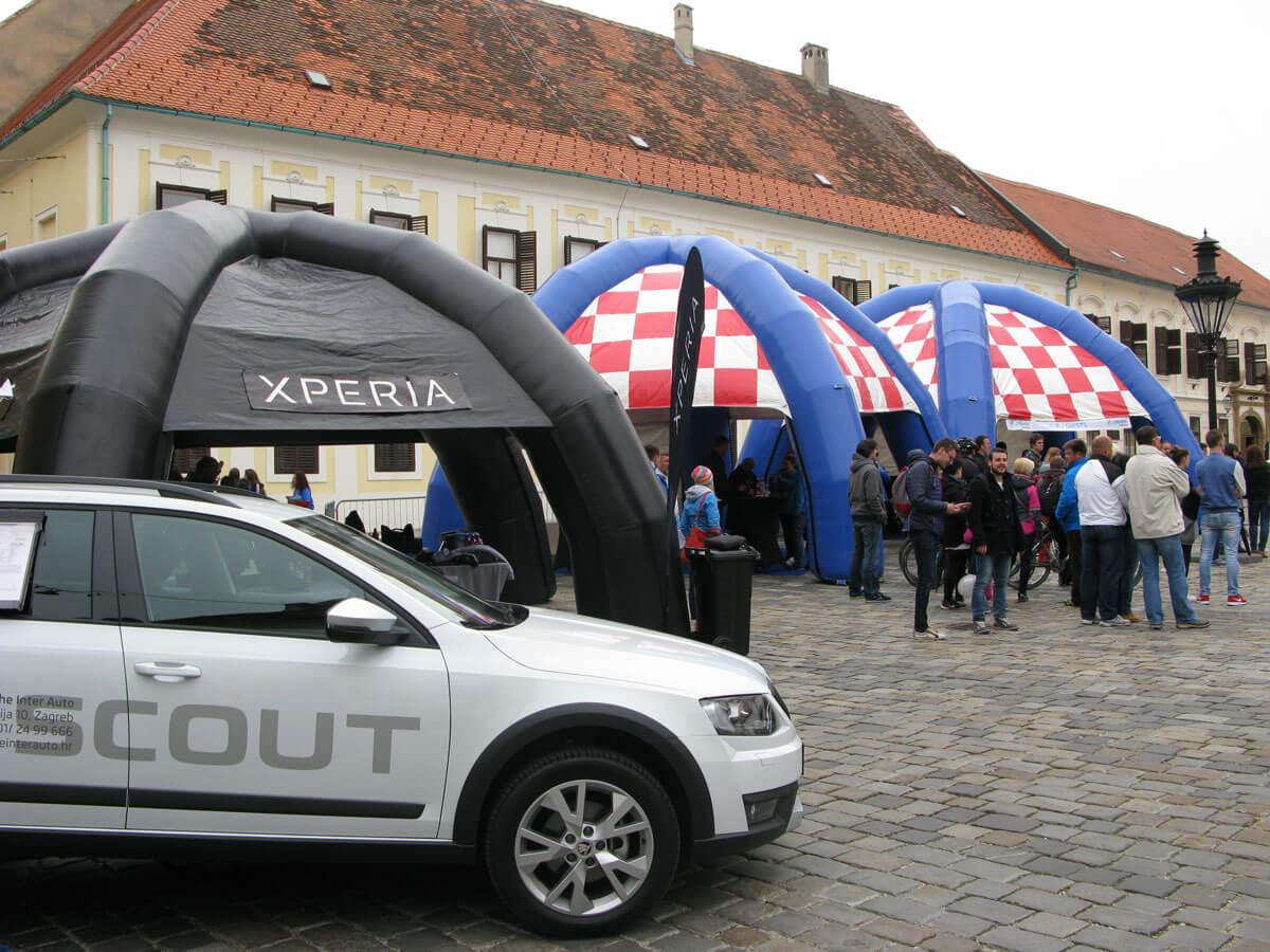 Sony Xperia Tour of Croatia hotspot