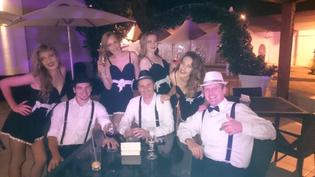 The Great Gatsby event crew