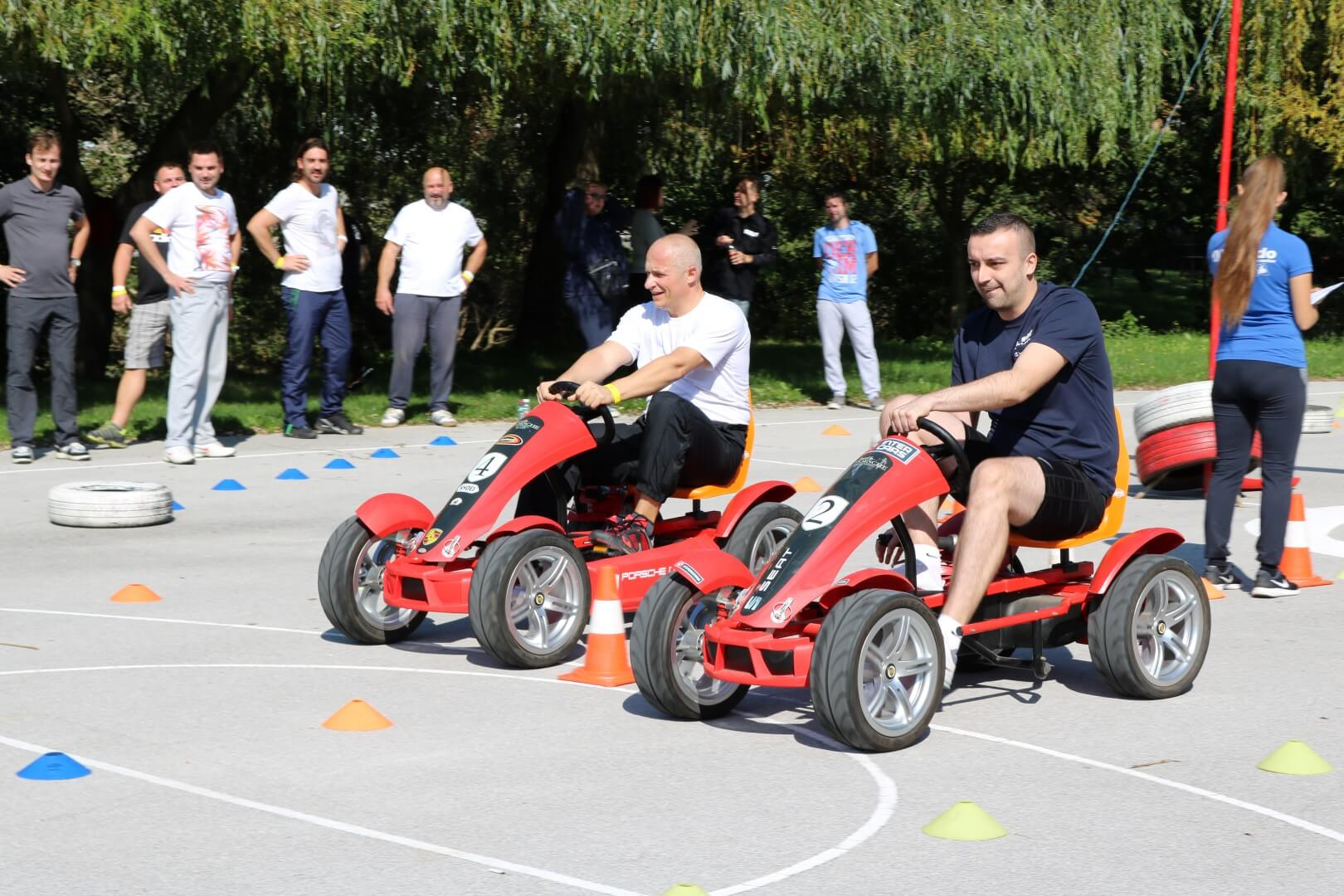 team building pedal go-kart